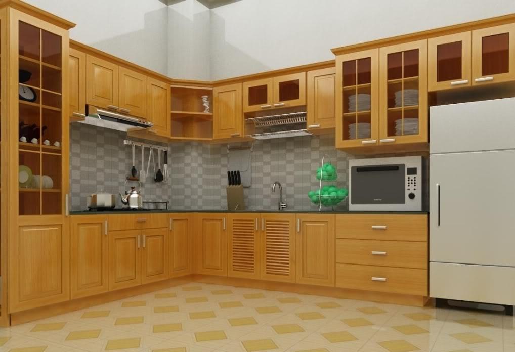 Tủ bếp theo phong thủy để gia đình yên ấm