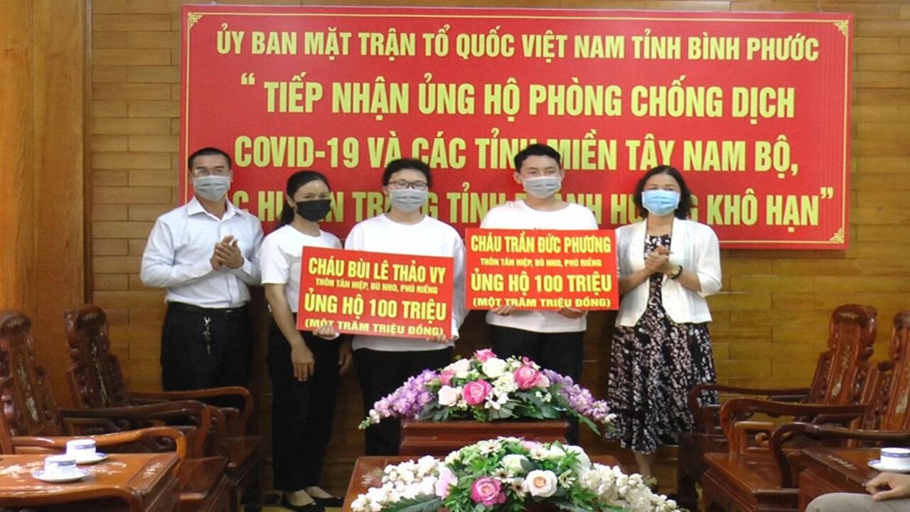 Hai học sinh 15 tuổi ở TP HCM ủng hộ 200 triệu vào quỹ phòng chống COVID 19