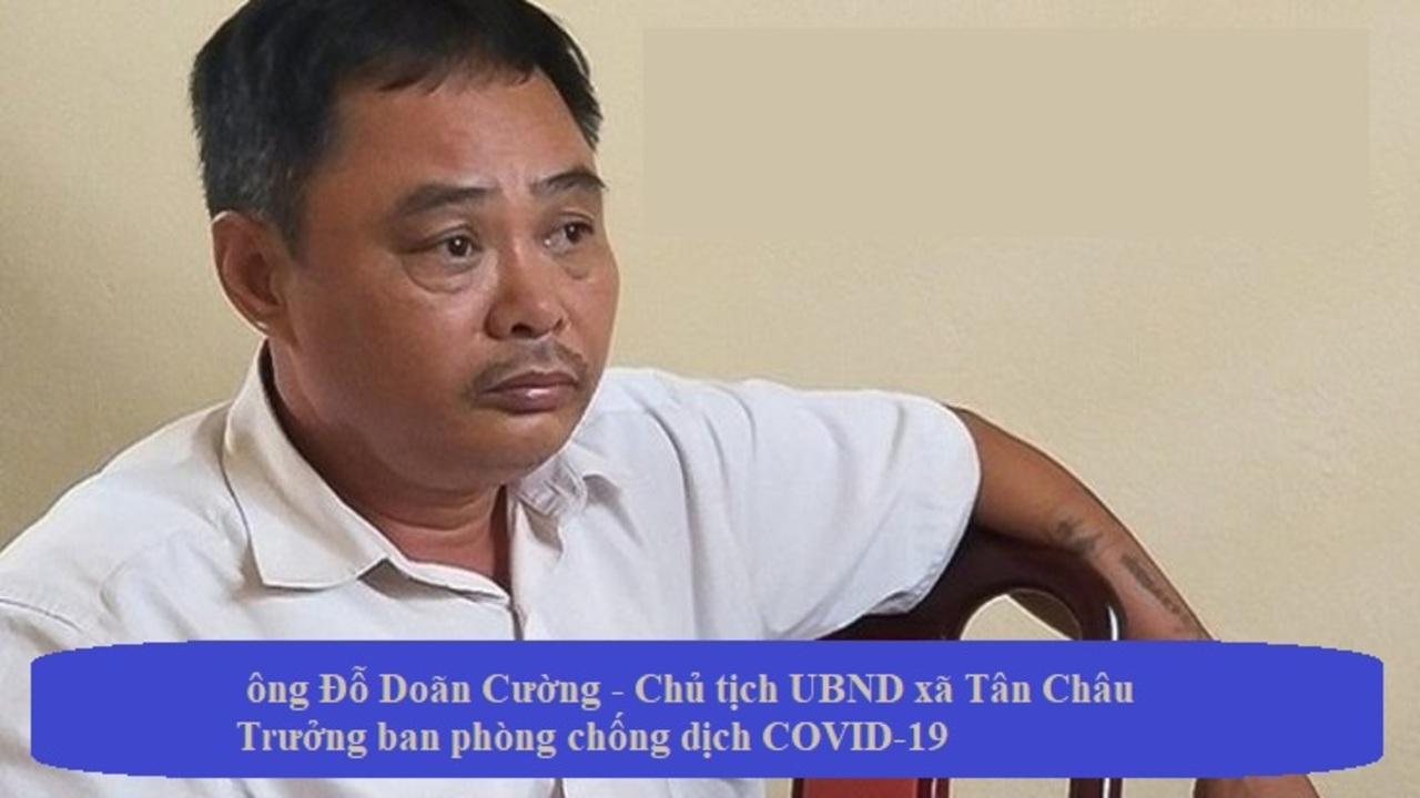 Thanh Hóa đình chỉ công tác Chủ tịch UBND xã Tân Châu vì để người dân tổ chức đám cưới 4 ngày liền giữa cao điểm dịch COVID 19