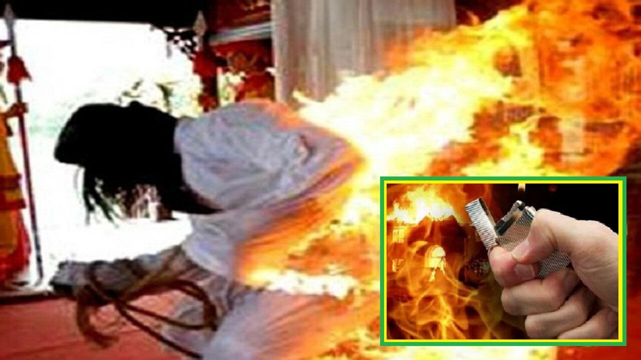 Một phụ nữ bất ngờ bị tạt xăng, châm lửa đốt giữa đường, sự việc tại Lâm Đồng