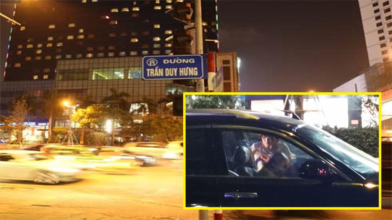 Một người đàn ông T.Ử V.O.N.G trong ôtô giữa phố Hà Nội