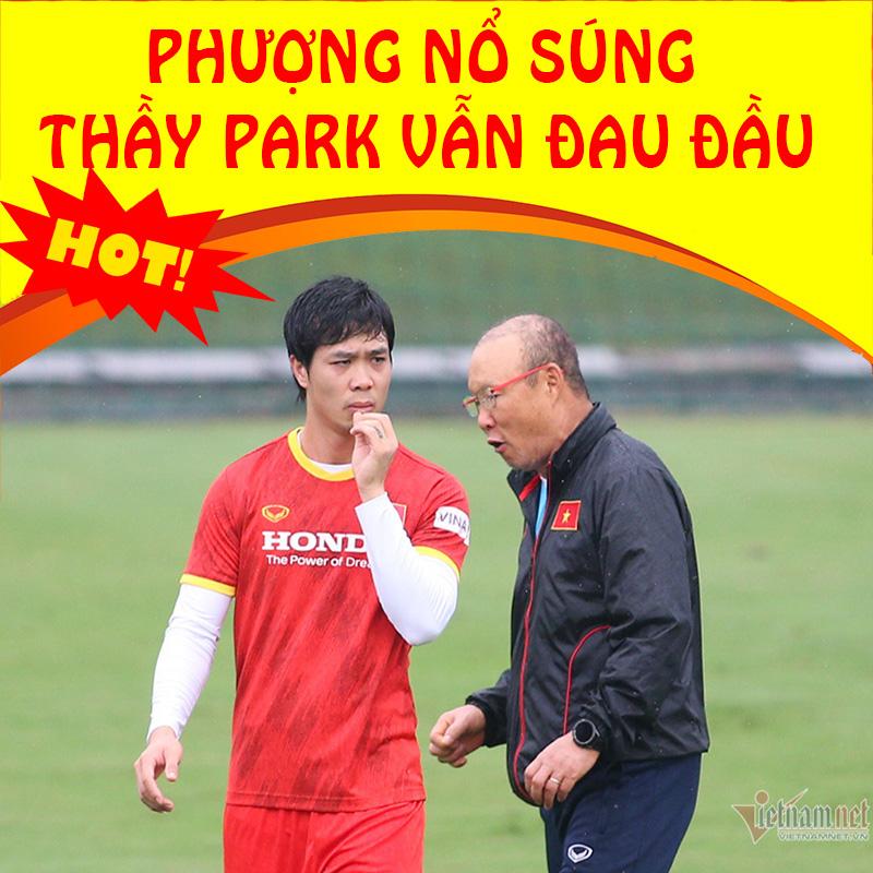 Thể thao 21/9: Tuyển Việt Nam: Công Phượng nổ súng, thầy Park chưa hết đau đầu