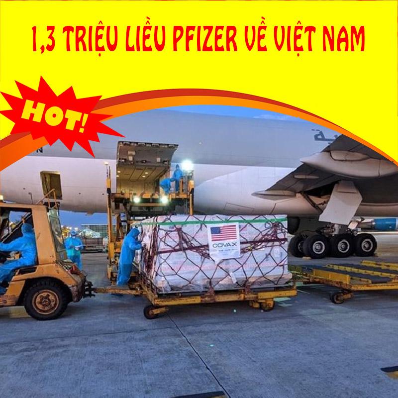 Thời sự 25/10: Việt Nam có thêm 1,3 triệu liều vaccine Pfizer từ Mỹ